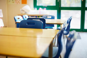 Image of school desks